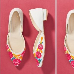 Anthro floral flats NWOB